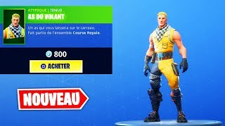 "NEW SKIN ""ACE OF THE STEERING WHEEL""! FORTNITE BATTLE ROYALE"