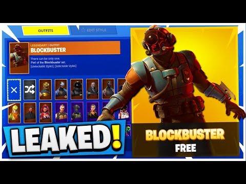 INSANE NEW FORTNITE SKIN LEAKED! (Fortnite BlockBuster Challenge)