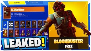 INSANE NEW FORTNITE SKIN LEAKED! (Fortnite BlockBuster Challenge)