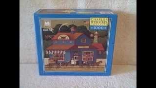 1000 Piece Charles Wysocki Jigsaw Puzzle The Butcher Shop # 04679-u01 Used