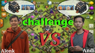 Challenge coc th 9 vs th 9 | clash of clans