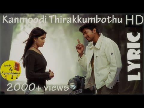 Kanmoodi Thirakkumbothu (Lyric Video) | Sachein | Vijay, Genelia | Devi Sri Prasad