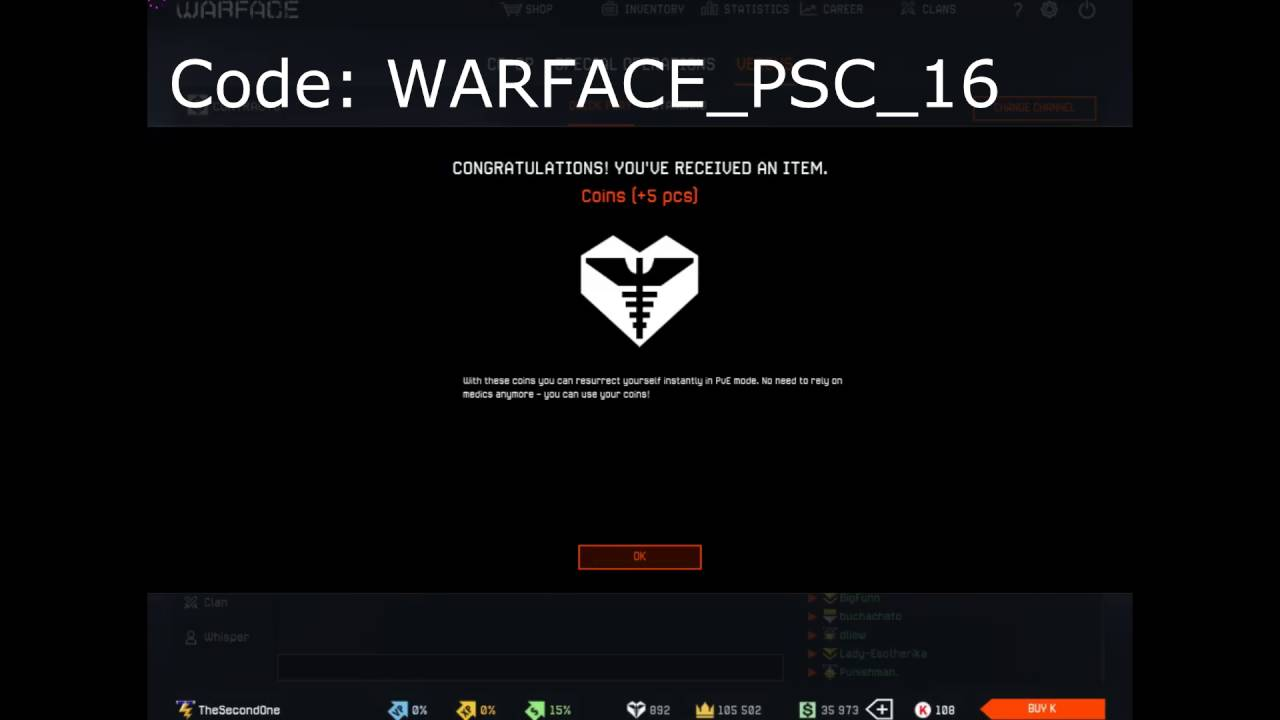 Warface Europe - [Expired] Free Skins , Weapons And More CODE!