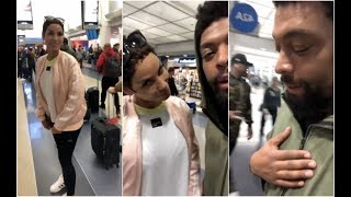 Deray Davis Gets Curved Trying Holla At Nicole Murphey In Airport