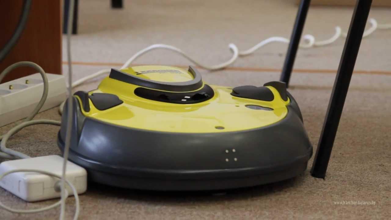 Робот-пылесос Karcher RC 3000 в действии