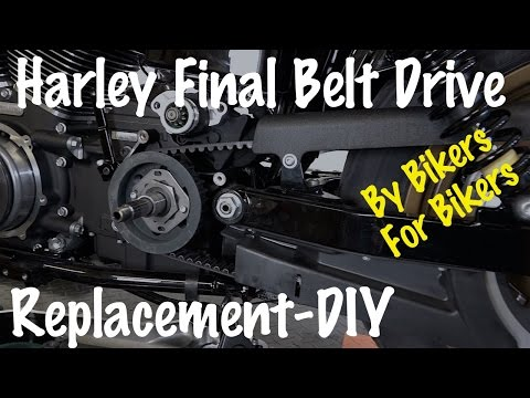 How To Remove & Replace Final Belt Drive on Harley-Davidson-