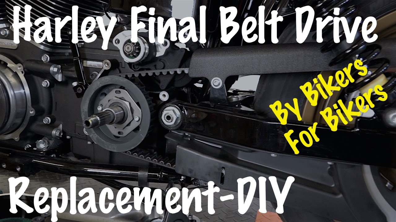 how to remove  u0026 replace final belt drive on harley