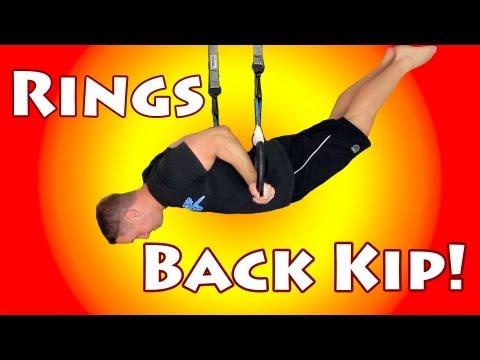 Olympics Gymnastics Rings - Back Kip
