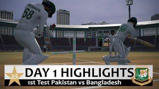 Day 1 - 1st Test Pakistan vs Bangladesh Match Highlights Cricket 19 Hardest Mode