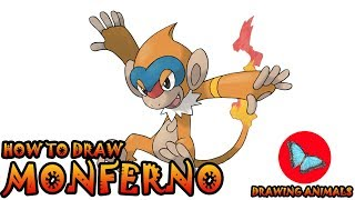 How To Draw Monferno Pokemon | Coloring and Drawing For Kids