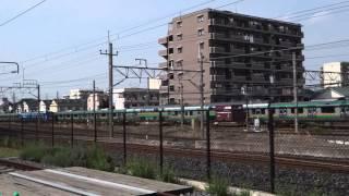 てっぱくからEH200貨物列車