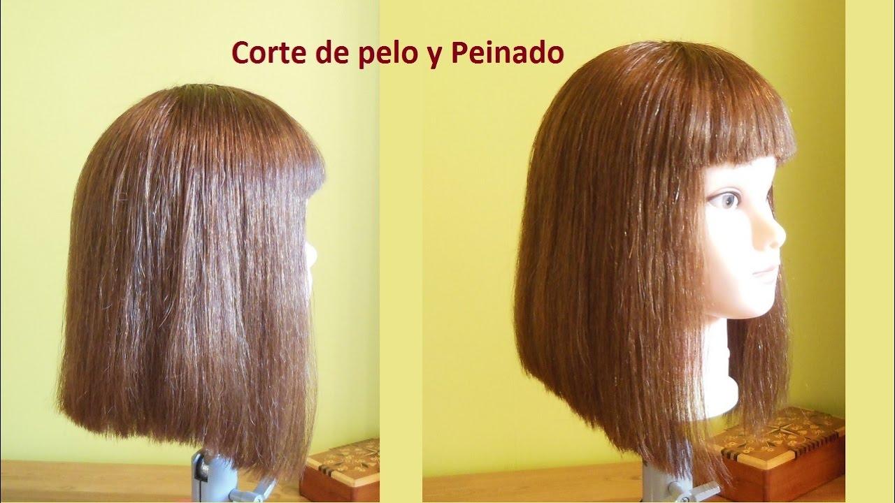 Corte recto de cabello paso a paso