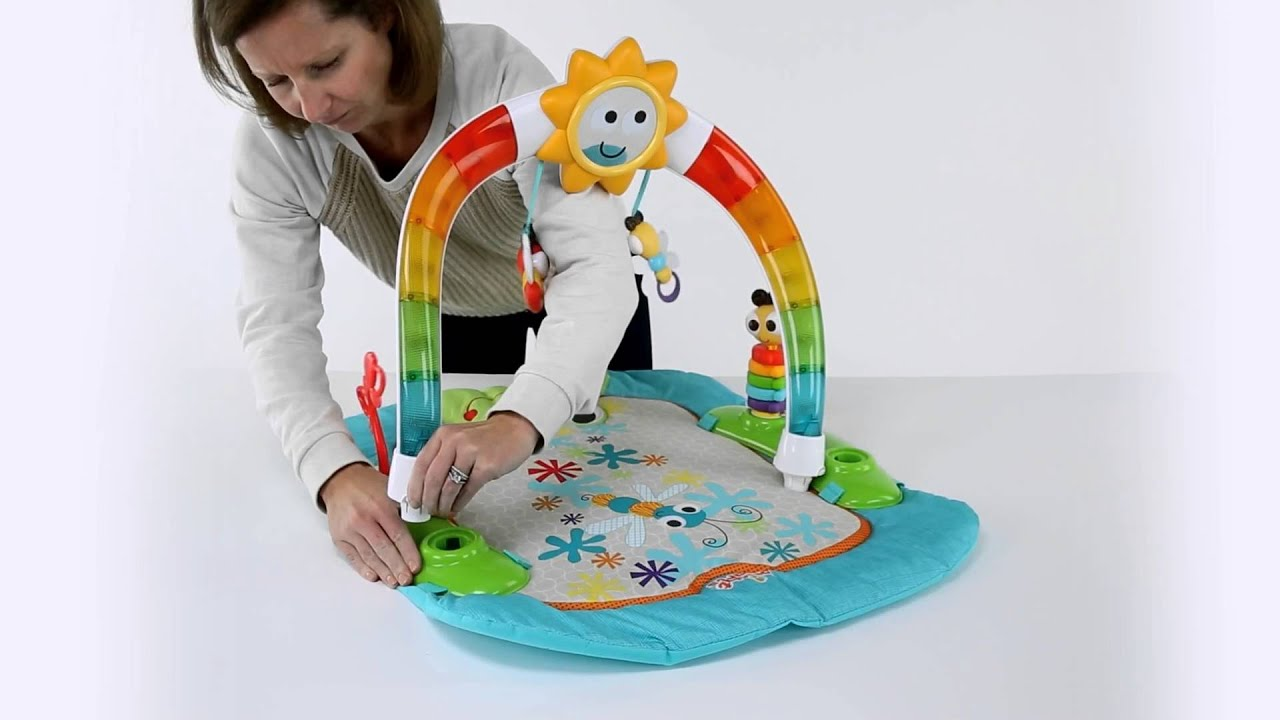 311b44982 The 2-in-1 Laugh   Lights Activity Gym   Saucer™ from Bright Starts ...