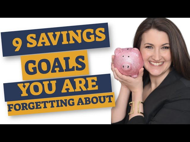 9 Forgotten Family Savings Goals - how I reach these goals using the NEW Smarty Pig App!