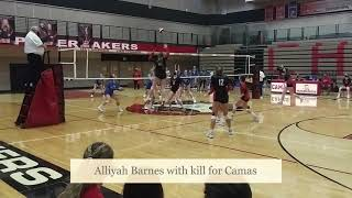 Highlights: Camas vs. Kelso volleyball