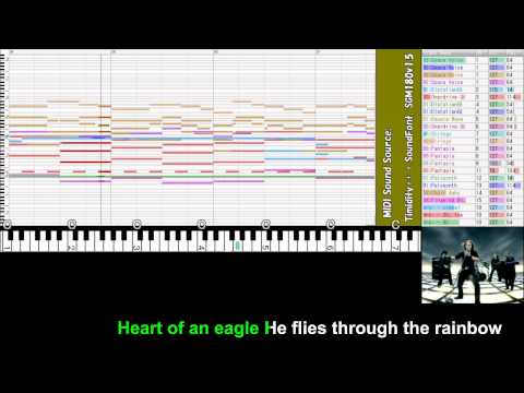 """[MIDI][repair] Stratovarius """"Eagleheart"""" [vocal-on, on-vocal] KARAOKE from """"Elements Pt.1"""""""