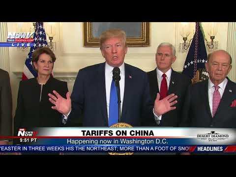 TARIFFS ON CHINA: President Trump signed an executive memorandum Thursday (FNN)