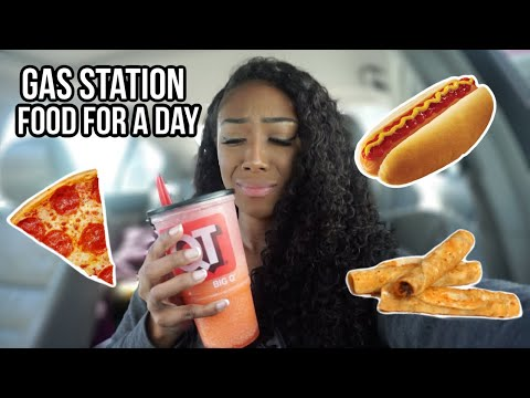 i only ate GAS STATION FOOD for 24 HOURS (literally disgusting)