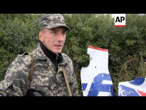 Separatist comments on the MH17 crash from the crashsite