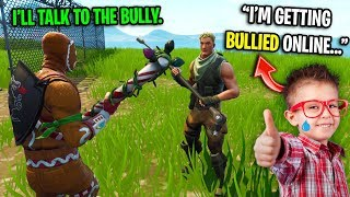 The nicest kid on Fortnite is getting BULLIED online... (Should I CONFRONT his bully?)