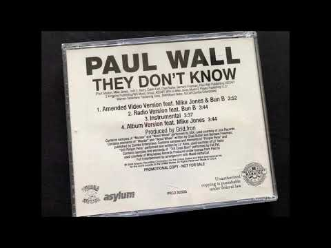 Paul Wall  They Don't Know (Instrumental Version)