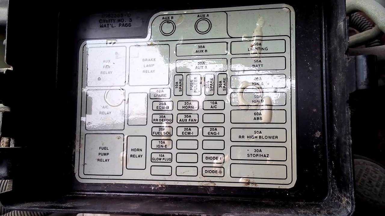 caja de fusibles de chevrolet 5 7 v8 youtube 2007 avalanche fuse diagram 2008 avalanche fuse diagram #9