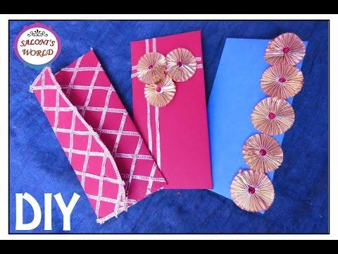 3 Easy Diy Unique Handmade Gota Un Wedding Money Envelopes By Jyoti Sachdeva