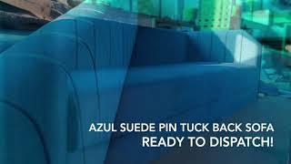 Azul Pin tuck sofa lakkadworks
