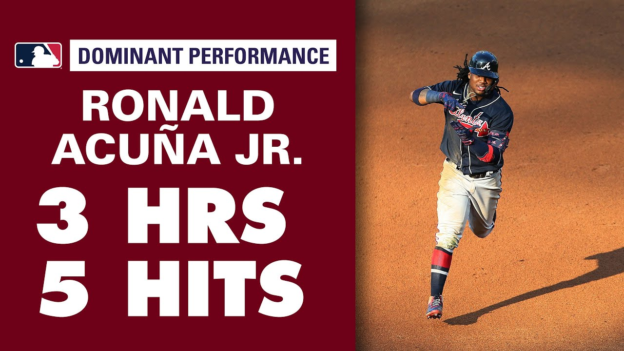 Braves' Ronald Acuña Jr. GOES OFF for 3 homers, 5 hits in double header vs. Phillies.