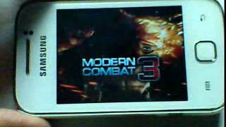 Modern Combat 3 On Galaxy Y (by Android Jat )