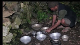 Lifestyle of village people in mountain sheep farm ll Primitive technology