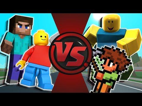 MINECRAFT vs ROBLOX vs TERRARIA vs LEGO Animation!
