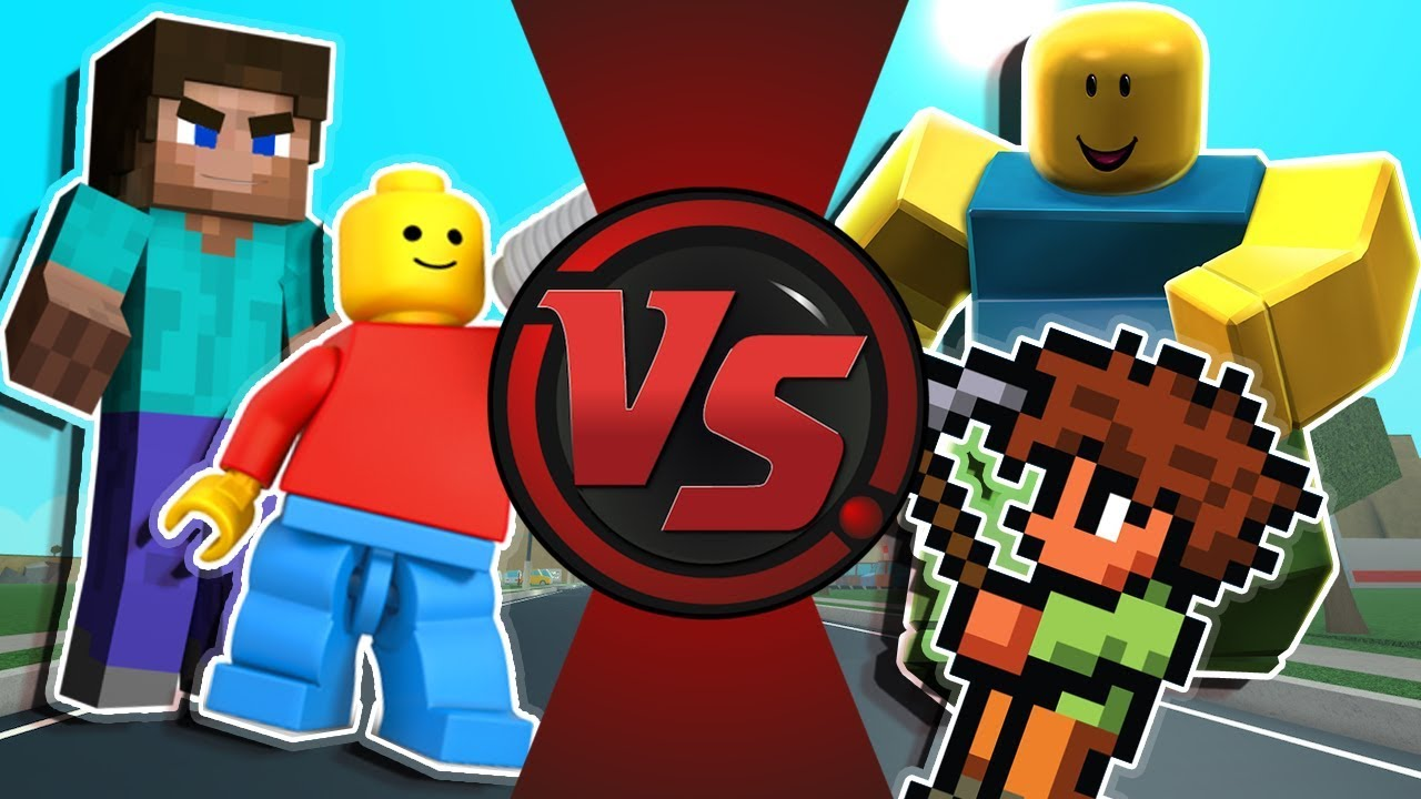 Minecraft Vs Roblox Vs Terraria Vs Lego Animation Youtube