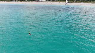 Kite Foiling in Turks and Caicos (Grace Bay)
