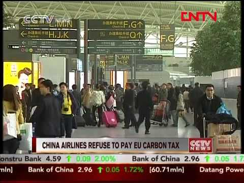China airlines refuse to pay EU carbon tax