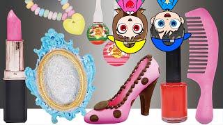 Chocolate Edible Makeup Challenge Mukbang ASMR KOYA and NEMI