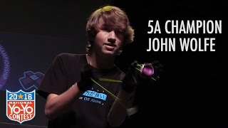 John Wolfe - 5A Final - 1st Place - 2016 US Nationals - Presented by Yoyo Contest Central