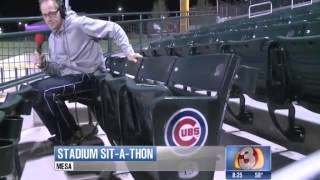 Mathew Blades trying to first person to sit in every seat of new Cubs Park