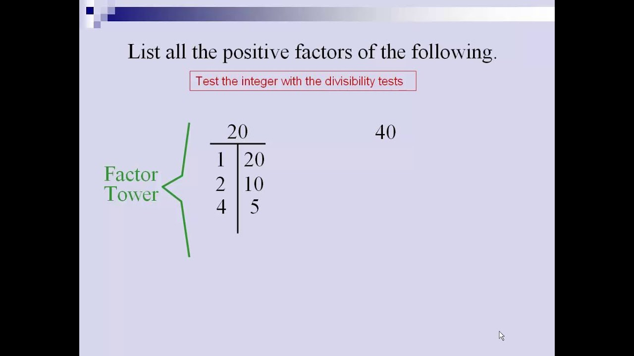 factors and prime composite numbers lessons tes teach