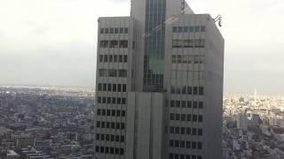 3.11 東北地方太平洋沖地震発生時の新宿高層ビル群(Earthquake in Japan)