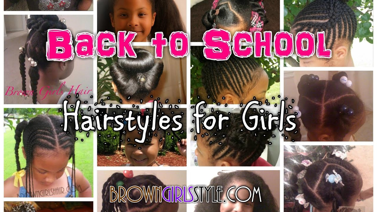 Little Girls BACK TO SCHOOL Natural Hairstyles