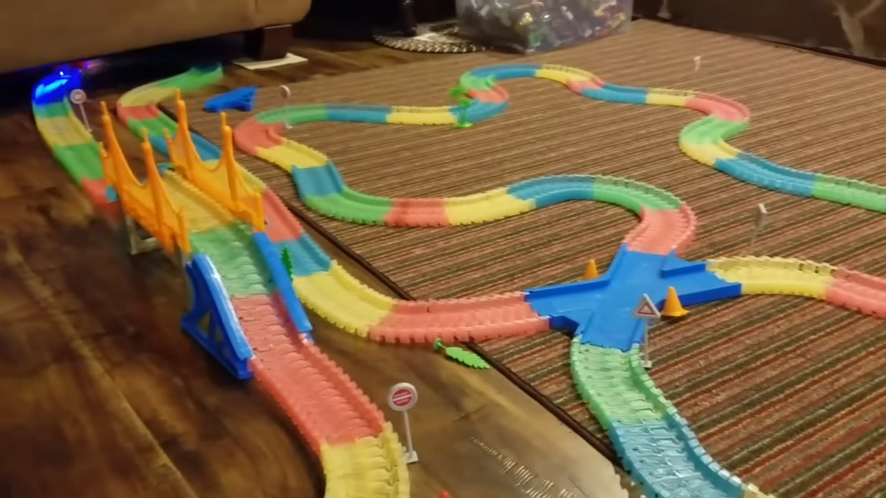 Magic Tracks Mega Play Set Playtime With Nicholas With Cop Car And