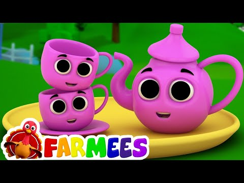 Estou bule pequeno | Rimas infantis para crianças | kids songs | farm song | I Am Little Teapot