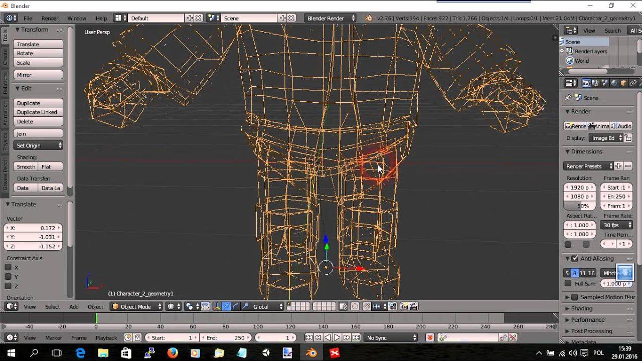 Jak importować gotowe modele 3D do Blendera z Unity3d