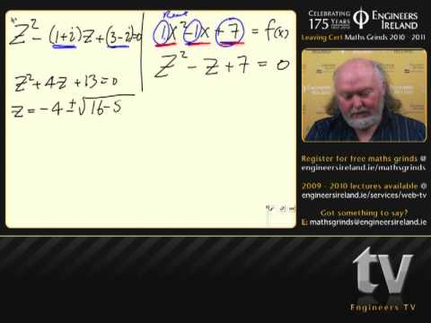 Complex Numbers I - Leaving Certificate Maths Tutorial