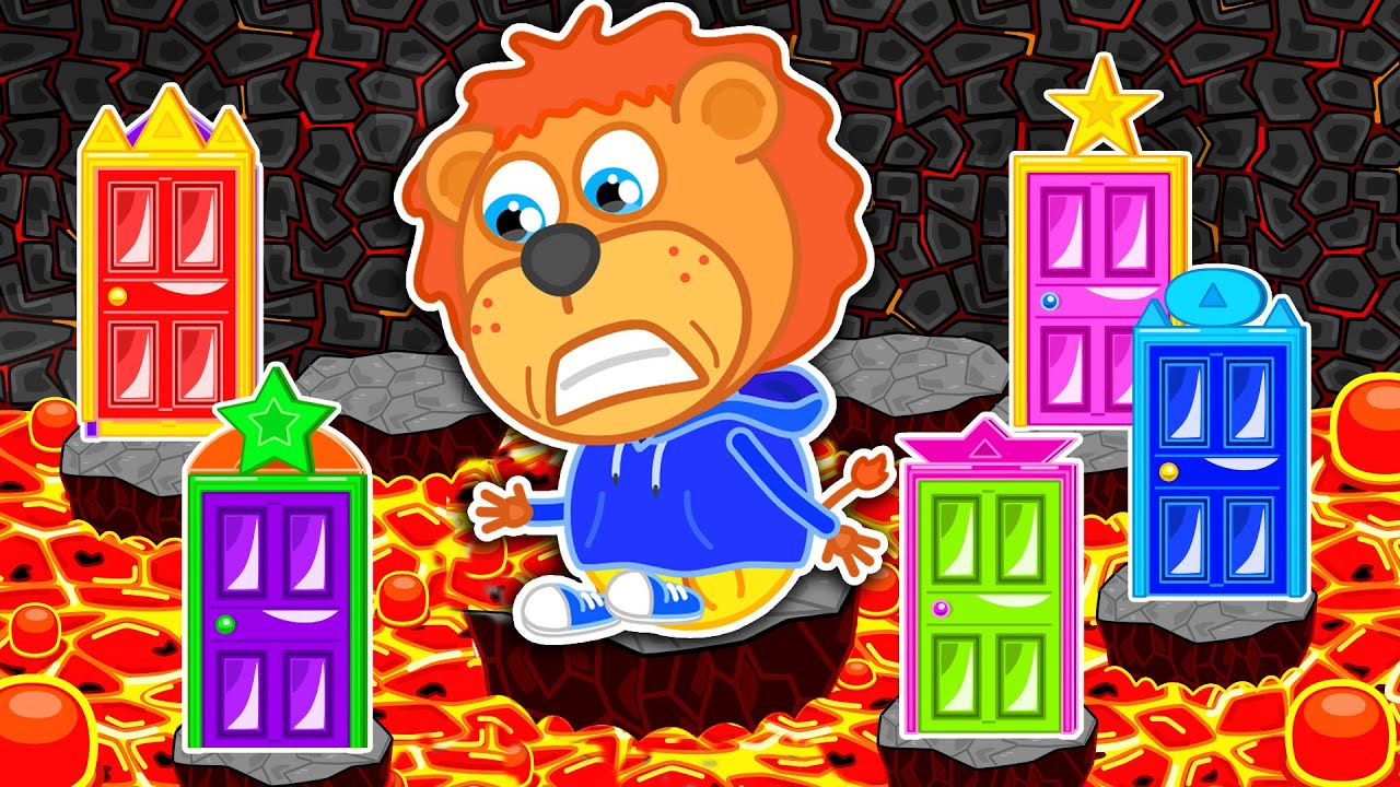 The Floor is Lava #7. Labyrinth of Magic ? Lion Family   Cartoon for Kids