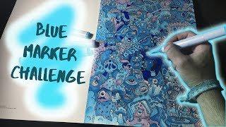 Blue Copic Marker Challenge (3 COPIC MARKER)