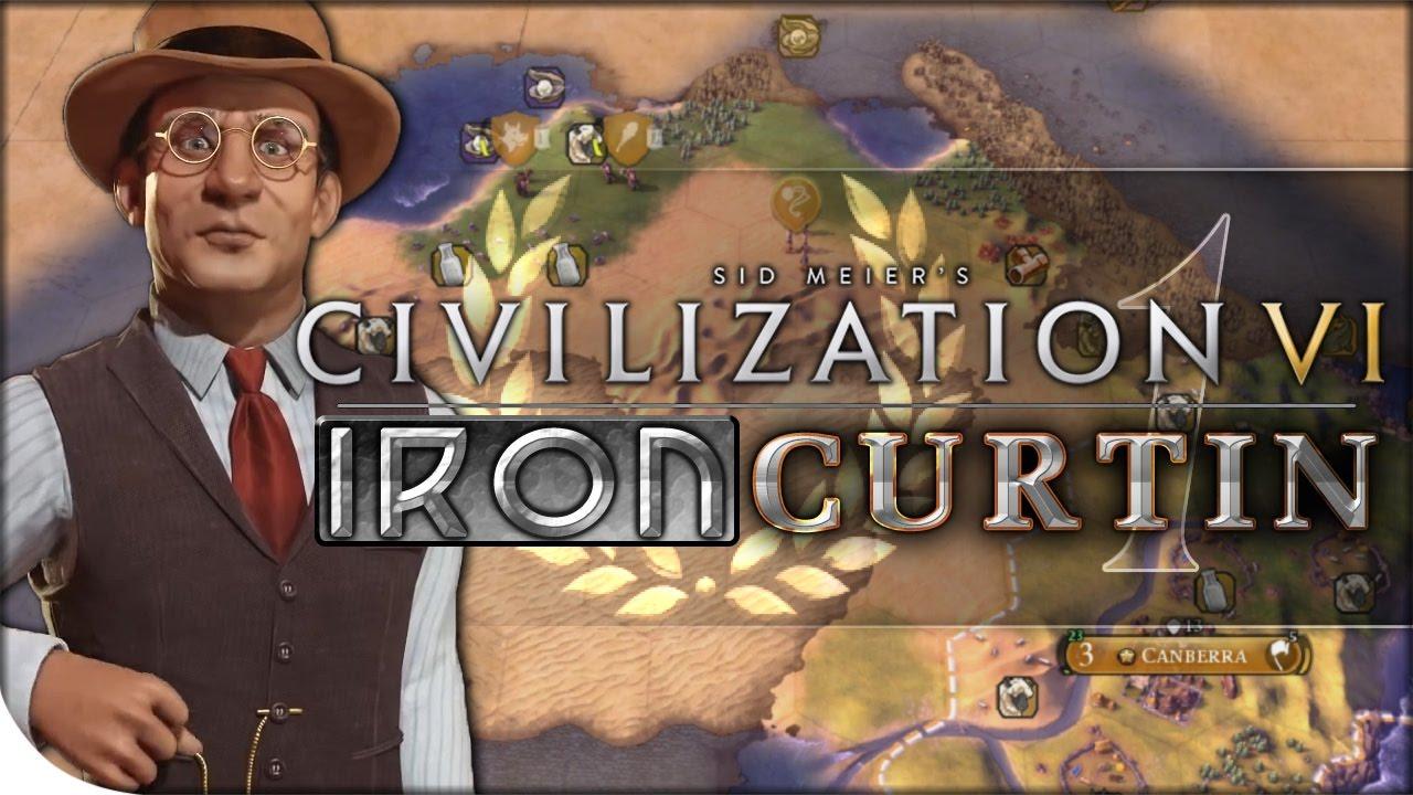 Australia Gameplay & NEW TSL EARTH MAP   Civilization VI — Iron