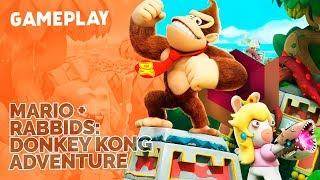 Mario + Rabbids: Kingdom Battle - Donkey Kong Adventure: Gameplay ao vivo!