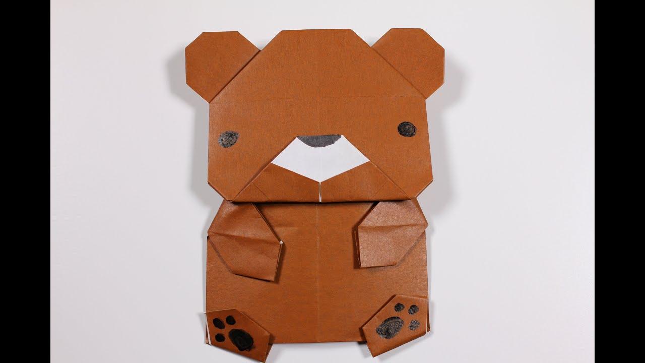 how to origami animal bear youtube